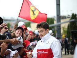 Charles Leclerc è pronto allo sbarco a Maranello. Lapresse
