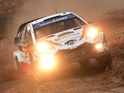 Ott Tanak in azione con la Toyota. Getty