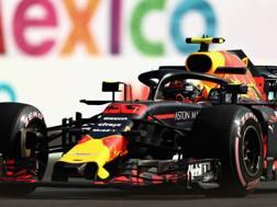 Max Verstappen in azione in Messico. Afp