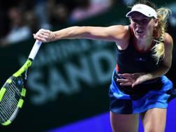 Carolina Wozniacki, 28 anni. Afp