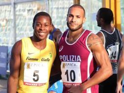 Fausto Desalu e Marcell Jacibs, entrambi 24enni. Colombo