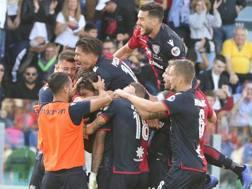 I festeggiamenti del Cagliari. Ansa