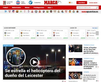 """L'apertura di Marca (Spagna): """"Si schianta l'elicottero del proprietario del Leicester"""""""