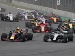 Max Verstappen e Lewis Hamilton protagonisti in Messico. Epa