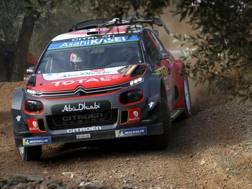 Sebastien Loeb in azione in Spagna. Getty