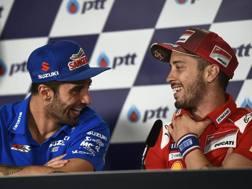 Andrea Iannone e Andrea Dovizioso. Afp