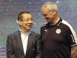 Srivaddhanaprabha e Claudio Ranieri. AP