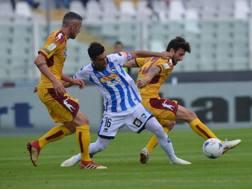 Una fase di gioco di Pescara-Cittadella dello scorso weekend. LaPresse