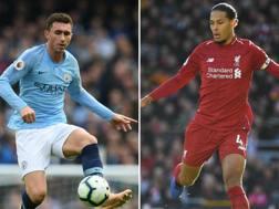 Aymeric Laporte e Virgil Van Dijk, pilastri difensivi di City e Liverpool