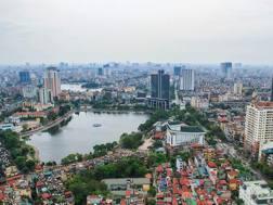 Una vista della capitale del Vietnam, Hanoi. Archivio