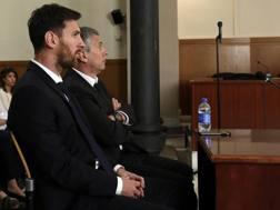 Leo Messi assieme al padre, Jorge Horacio. Epa