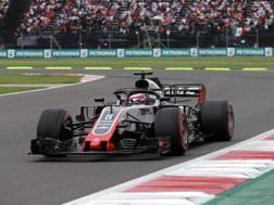 La Haas di Romain Grosjean. LaPresse