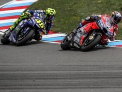 Andrea Dovizioso e Valentino Rossi. Ansa