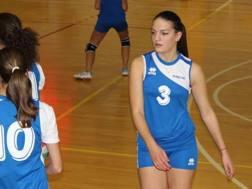 Margherita con la sua squadra di volley