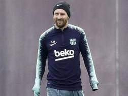 Leo Messi , 31 anni, fuoriclasse del Barcellona. Epa