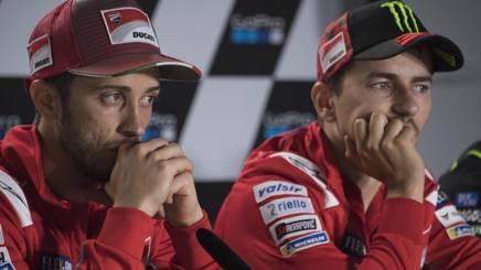 Andrea Dovizioso, 32 anni, e Jorge Lorenzo, 31 - GETTY IMAGES