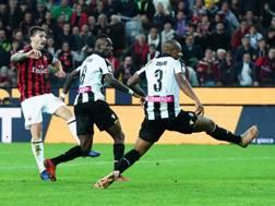 Il gol-partita di Alessio Romagnoli. LaPresse
