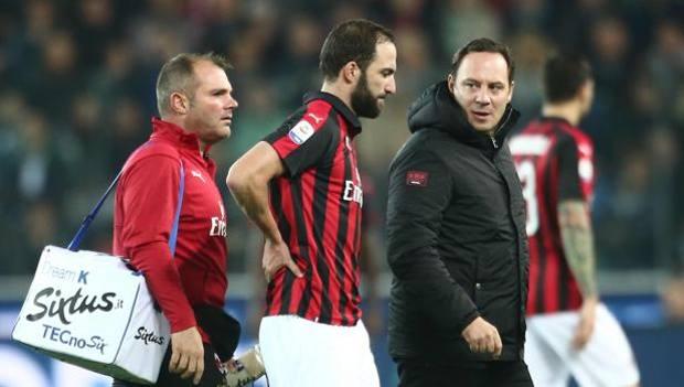 Higuain lascia il campo a Udine. LaPresse