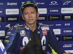 La delusione di Valentino Rossi. Epa