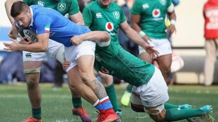 Luca Sperandio contro l'Irlanda. Afp