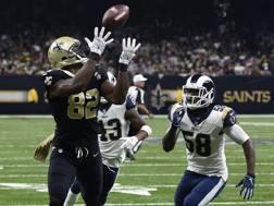 Il touchdown di Watson per i Saints contro i Rams. Ap