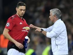 Matic e Mourinho. AFP