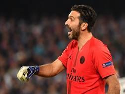 Gigi Buffon, tornato titolare in Champions dopo la lunga squalifica. Afp