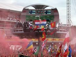 Il podio dell'ultimo GP d'Italia. Lapresse