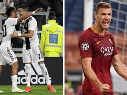 Dybala e Ronaldo per la Juventus e Dzeko per la Roma: le speranze Champions delle due squadre passano da loro