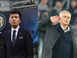 Da una parte Steven Zhang, dall'altra José Mourinho. Getty-Ansa