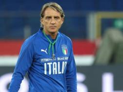 Robetrto Mancini, c.t. della Nazionale. Epa