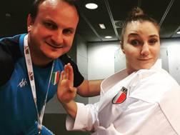 Alice Cavrioli con il coach azzurro Francesco Maffolini