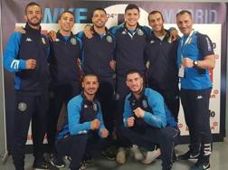 La squadra azzurra del kumite