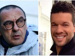 Maurizio Sarri e Michael Ballack. Gettty
