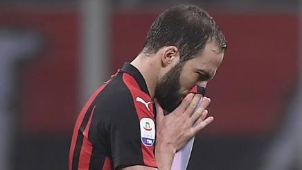 Gonzalo Higuain, prima stagione al Milan. Lapresse