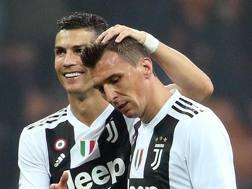 Cristiano Ronaldo e Mario Mandzukic. Ap