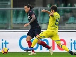 Un'azione del match di Verona. Getty