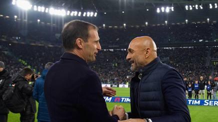 Massimiliano Allegri e Luciano Spalletti. Getty