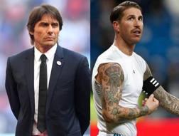 Antonio Conte, 49 anni, e Sergio Ramos, 32 anni.