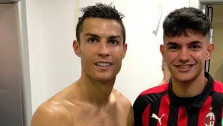 Lo scatto di Raoul Bellanova con Cristiano Ronaldo
