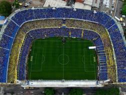 """Lo stadio """"La Bombonera"""" durante la finale d'andata tra Boca Juniors e River Plate. Getty"""