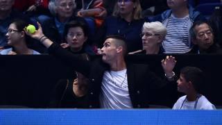 Atp Finals con Cristiano Ronaldo in tribuna