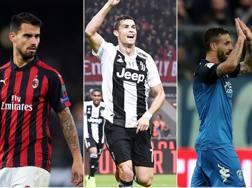 Suso, Cristiano Ronaldo e Caputo