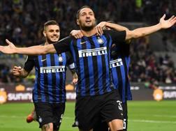 Danilo D'Ambrosio, 30 anni, festeggia il gol decisivo segnato alla Fiorentina il 25 settembre Getty