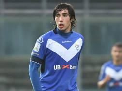 Sandro Tonali, 18 anni: in stagione ha realizzato un gol con il Brescia in Serie B. Lapresse