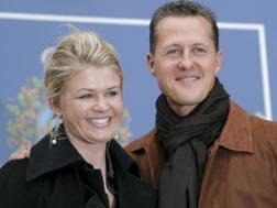 Corinna e Michael Schumacher. Epa