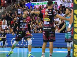 L'esultanza di Filippo Lanza, 27 anni, durante il match contro Modena