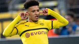 Jadon Sancho, ala inglese del Borussia Dortmund. Afp