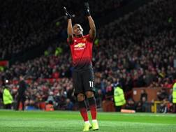 Anthony Martial , attaccante del Manchester United. Afp