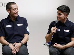 Valentino Rossi e Maverick Viñales. Epa